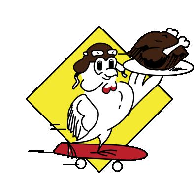 De rijdende kip